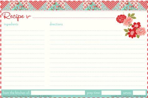 recipe card templates excel  formats