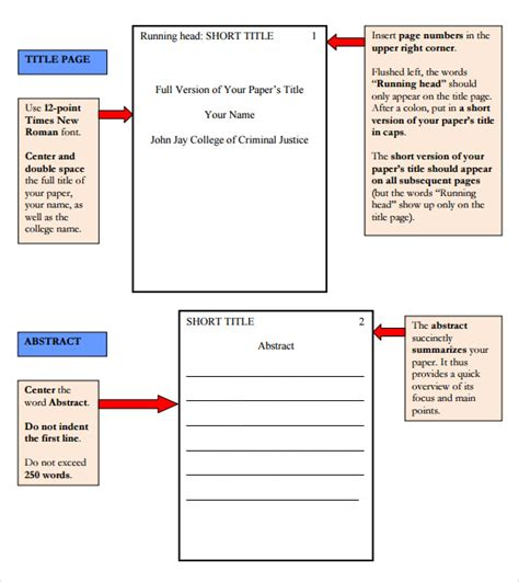 apa report template research paper outline template 9 free