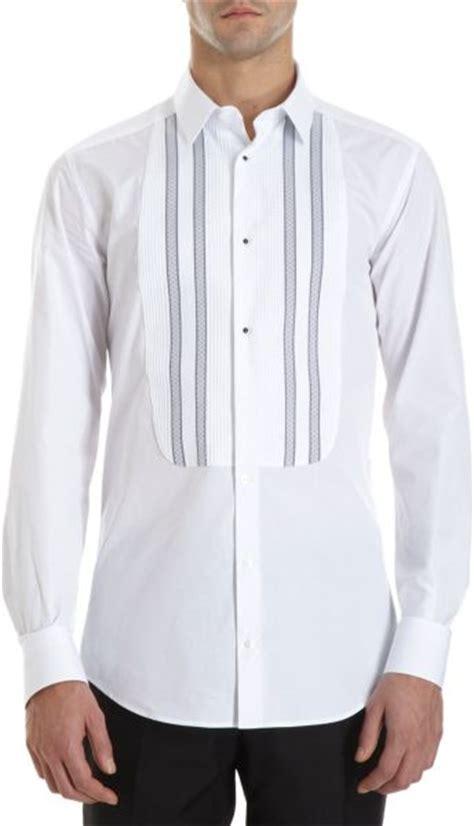 pattern tuxedo shirt dolce gabbana diamond pattern striped bib tuxedo shirt
