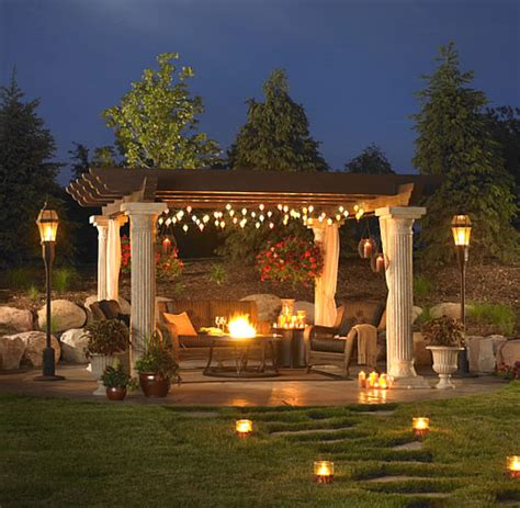 Outdoor Pergola Lights Pergolas A Change Of Space