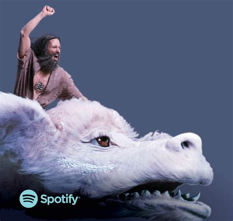 neverending story ad of the day falkor from the neverending story soars as spotify s new spokesdragon