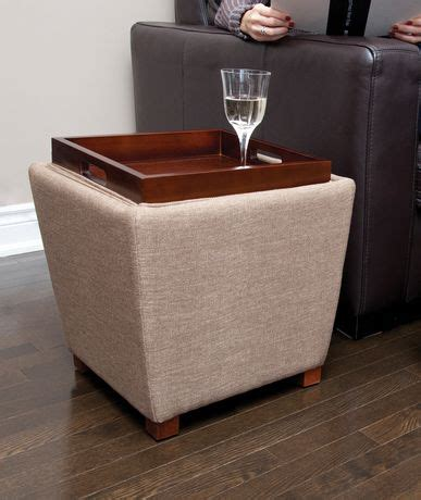 fabric storage ottoman with tray tapered fabric storage ottoman with tray tan walmart ca