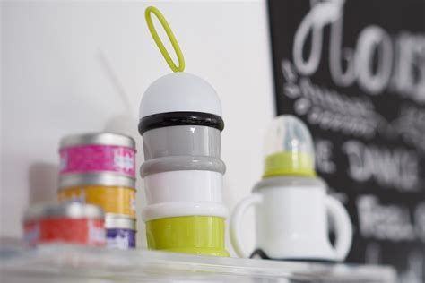 Beaba Stacked Formula Milk Container Neon Tempat buy beaba stacked formula milk snack dispenser neon for 6 99 inhealth ie