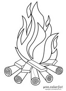 Campfire Coloring Pages  GetColoringPagescom sketch template