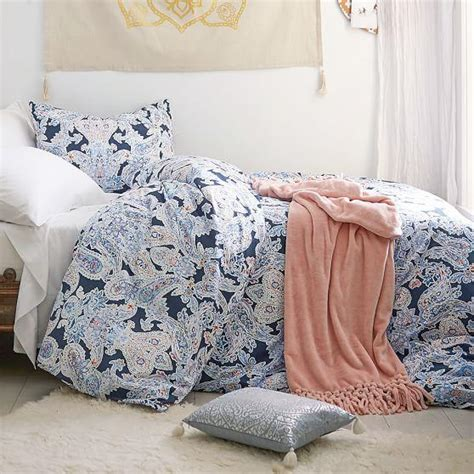 pottery barn paisley bedding rosalie paisley duvet cover sham blue pottery barn