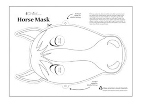 printable horse mask template have fun making this horse mask to celebrate chinese new