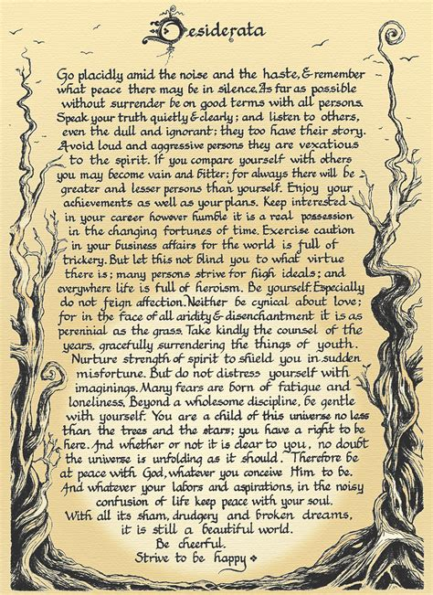 dancing in the shadows the desiderata by max ehrmann