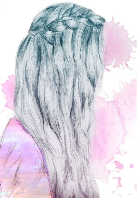 Aumbrey Hair Pics | waterfall braid hair art cute braid drawing