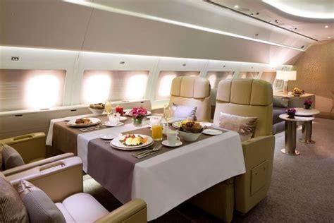 luxury living  private jet interior designs