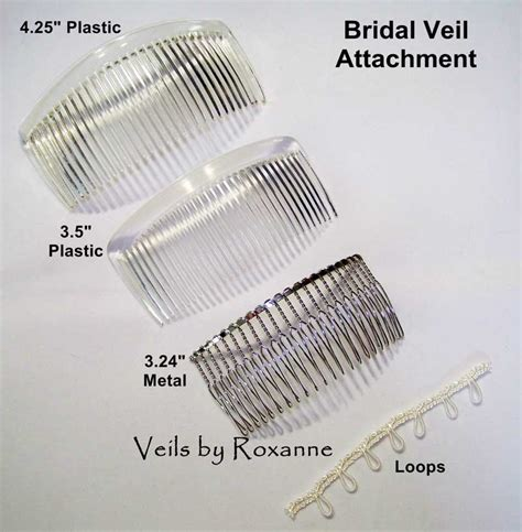 Wedding Hair Combs For Veils by Step 6 Veil Attachment Veils By Roxanne