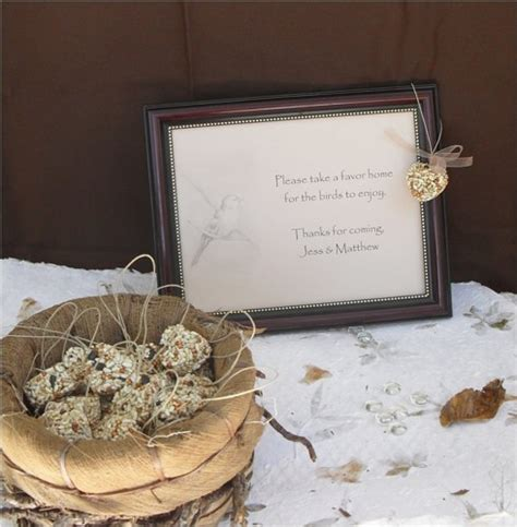 bird seed hearts burlap bags wedding favors trendy shabby chic favors personalized table sign