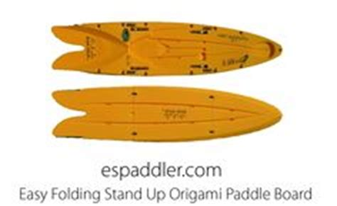 Origami Paddler - stand up paddle board origami style on