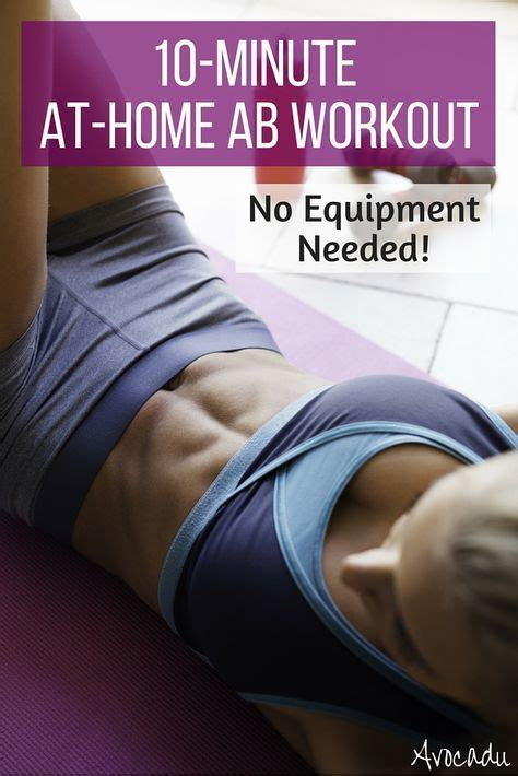 best 20 home ab workout ideas on