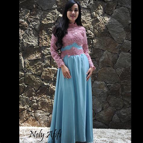 gaun kebaya brocade islamic gaun kebaya klasik gaun kebaya brocade pink biru untuk wisuda