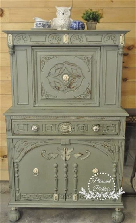 chalk paint masters custom mix of sloan olive green and duck egg blue 50