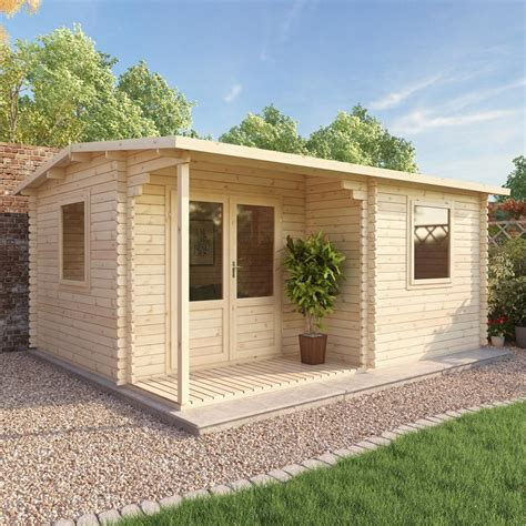 office summer home page 5m x 4m executive log cabin double door garden building