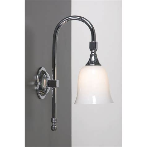 Bath Classic Bathroom Wall Light Chrome Swan Neck Period Traditional Bathroom Lighting Uk