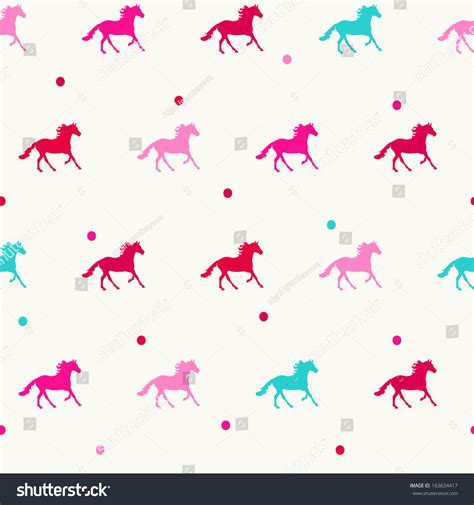 stock horse pattern colorful horse seamless hors pattern in vector