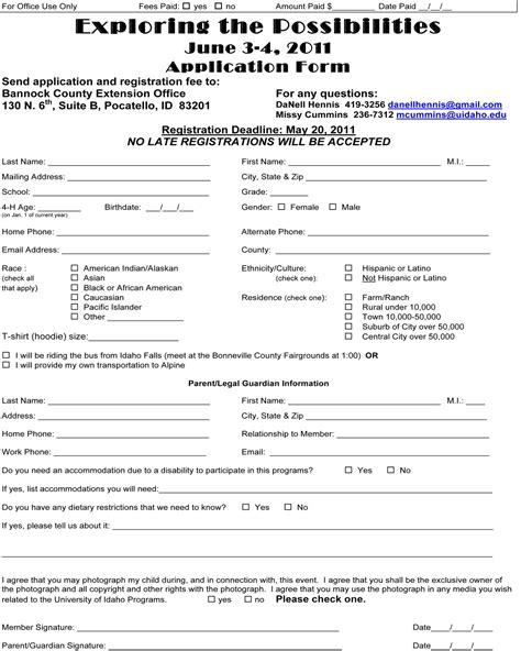 youth registration form template beautiful c registration form template pictures