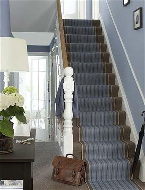 stair runner blue  brown   warming colour scheme