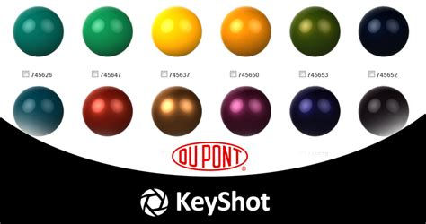 luxion and dupont performance coatings launch keyshot material site for dupont paints