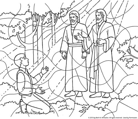 lds coloring pages joseph smith first vision coloring page