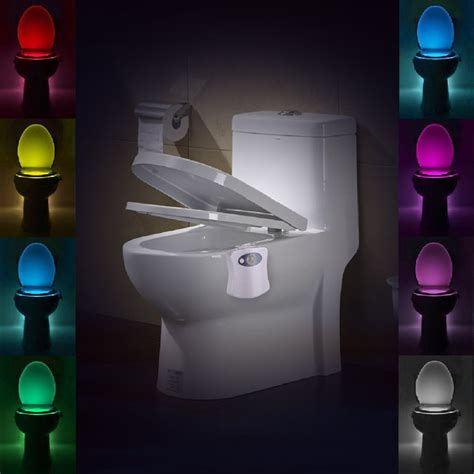 color changing night light sensor motion activated led toilet night light battery