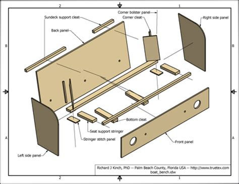 how to make a boat bench seat woodwork boat bench seat design pdf plans
