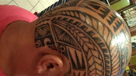 polynesian poly inspired freehand head skull tattoo youtube
