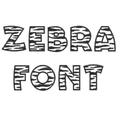 zebra pattern font home format fonts embroidery font zebra font from great