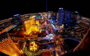 las vegas lights las vegas buildings lights fisheye hd wallpaper
