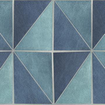 gradient geometric tiles wallpaper blue  grey