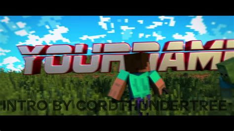 free minecraft intro template 250 likes for download