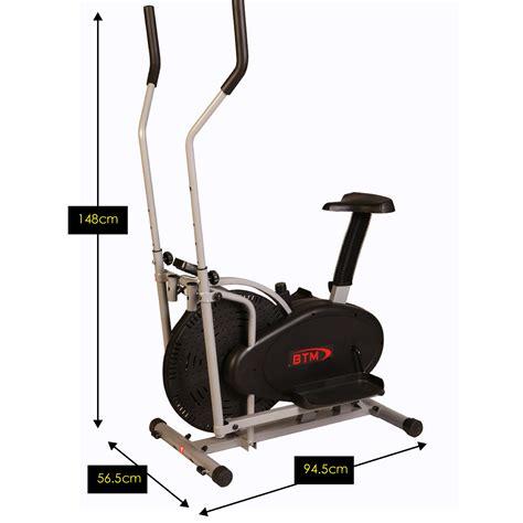 seated cardio btm fitness elliptical cross trainer exercise bike