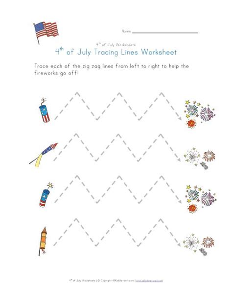 zigzag tracing pattern 4th of july tracing zig zag lines worksheet