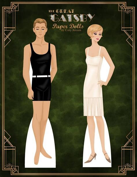 gatsby cut the great gatsby paper dolls by cory for lots of free