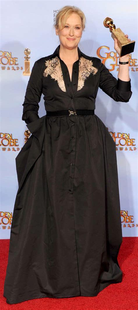 What Meryl Streep Should Wear by 2012 Golden Globe Awards Carpet Black Dresses Stylefrizz