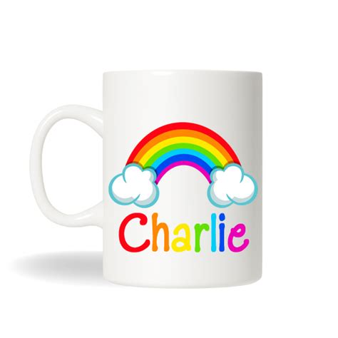 Rainbow Cup rainbow mug personalized rainbow cup personalized