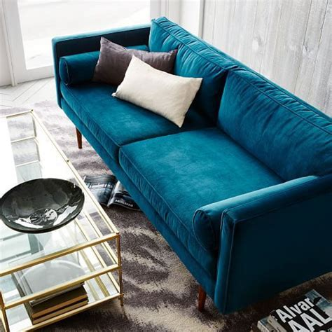 Royal Blue Velvet Couch Blue Velvet Sleeper Sofa Inside