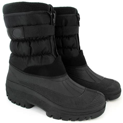mens fur snow boots mens warm snow boots waterproof mucker thermal wellingtons