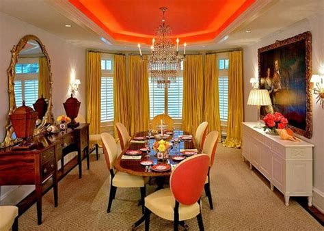 Orange Dining Room Modern Dining Room Decorating Ideas Orange Paint Colors And Wallpaper