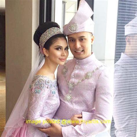 Baju Nikah Anzalna artis malaysia 41 gambar suasana majlis resepsi anzalna nasir hanif zaki kebaya