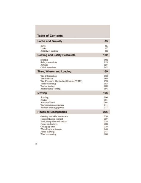 2009 ford escape owners manual