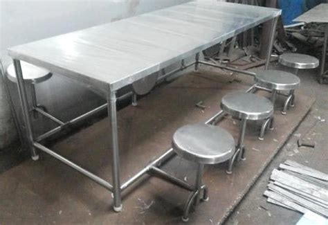 Stainless Steel Dining Table Set Stainless Steel Dining Table Set Manufacturer Supplier In Odisha India