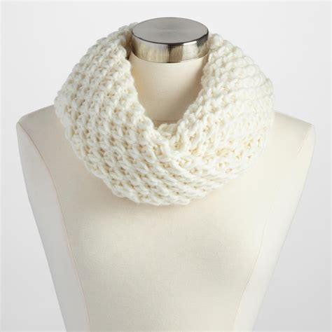 Chunky Knit Scarf ivory chunky knit infinity scarf world market