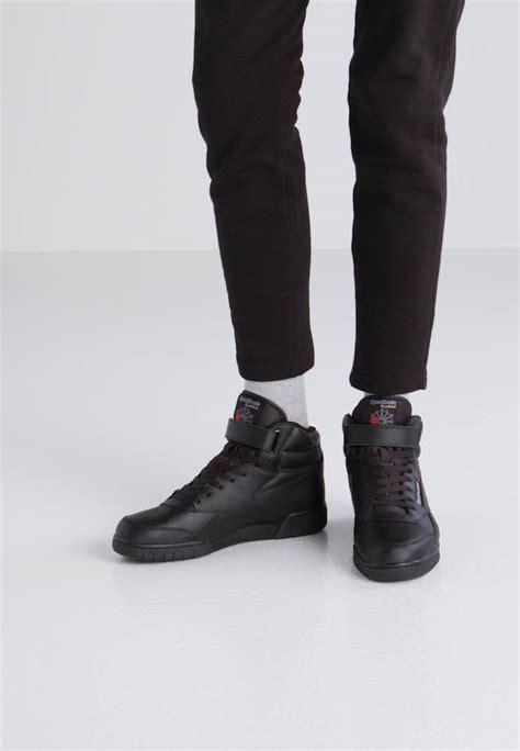 reebok classic   fit sneaker high black zalandode