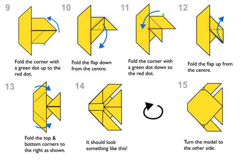 How To Make Paper Folding Fish - origami fish steps comot