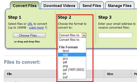 format file odp convert open office presentations odp to ppt using zamzar