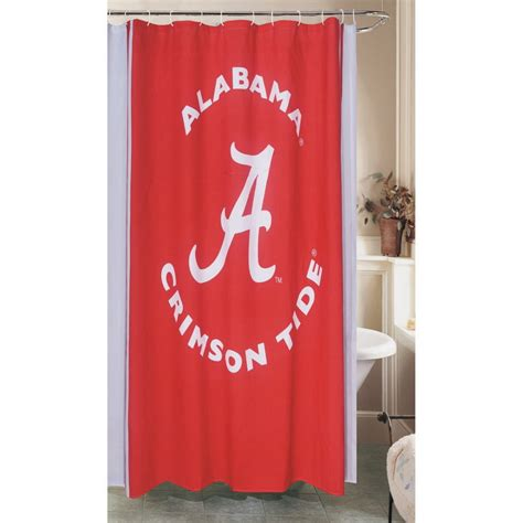 alabama shower curtain shop belle view collegiate polyester alabama crimson tide