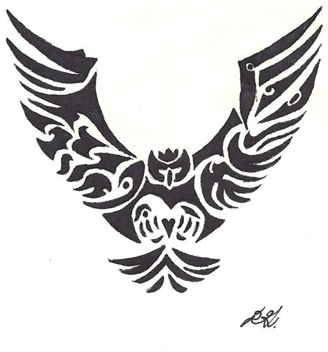 tribal tattoo owl tattoos on tribal owl tattoos owl tattoos and
